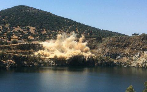La Parrilla first mine blast - 26 Jul 16